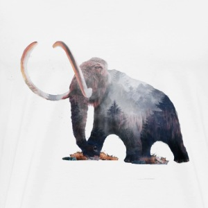 Hipster Mammoth - Men's Premium T-Shirt
