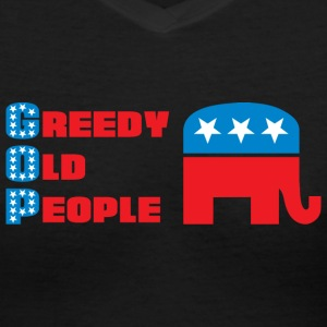 Grand Old Party (GOP) = Greedy Old People T-Shirts - Women's V-Neck T-Shirt