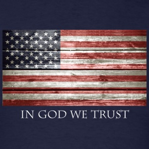 In God We Trust American Flag - Men's T-Shirt