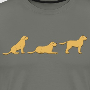 sit down stay labrador T-Shirts - Men's Premium T-Shirt