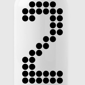 2, Numbers, Football Numbers, Jersey Numbers Mugs & Drinkware - Water Bottle