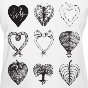 Heart shaped drawings Women's T-Shirts - Women's T-Shirt