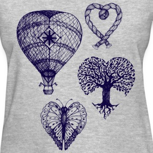 Heart shaped drawings - Women's T-Shirt