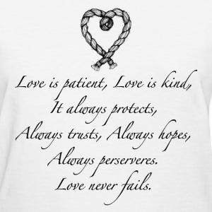 Love is patient..(with heart) - Women's T-Shirt
