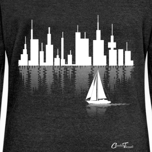 sailing-cityline-white Long Sleeve Shirts - Women's Wideneck Sweatshirt