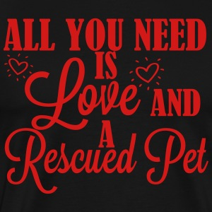 Love and a rescued dog T-Shirts - Men's Premium T-Shirt