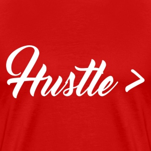 HUSTLE GREATER TEE - MEN - Men's Premium T-Shirt