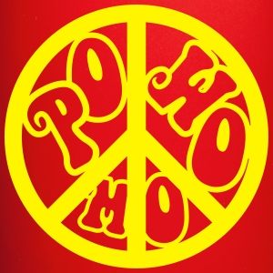 powomo peace sign logo Mugs & Drinkware - Full Color Mug