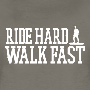 Ride Hard Walk Fast Logo Tee - Women's Premium T-Shirt