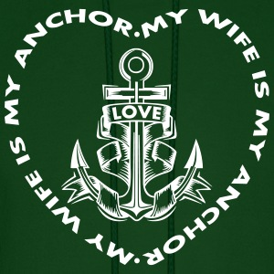 My Wife Is My Anchor Hoodies - Men's Hoodie