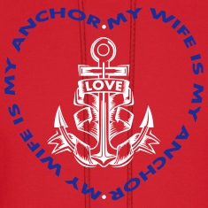 My Wife Is My Anchor Hoodies