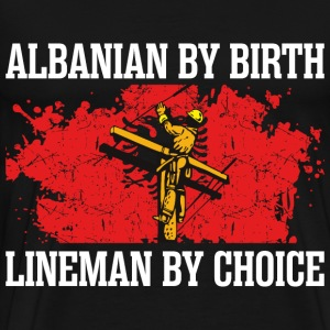 Alabanian By Birth Lineman - Men's Premium T-Shirt