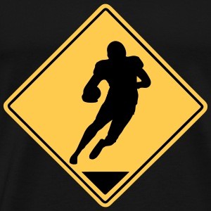 Football Road Sign T-Shirts - Men's Premium T-Shirt