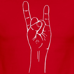 rock hand gesture T-Shirts - Men's Ringer T-Shirt