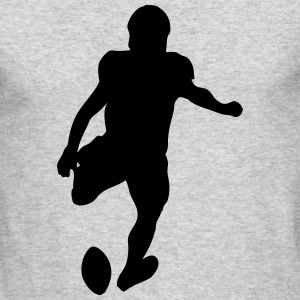 Football player Long Sleeve Shirts - Men's Long Sleeve T-Shirt by Next Level