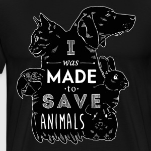 I was made to save animals bl Veterinarian T-shirt T-Shirts - Men's Premium T-Shirt
