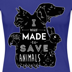I was made to save animals bl Veterinarian T-shirt Women's T-Shirts - Women's Premium T-Shirt