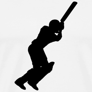 Cricket Player (Vector) - Men's Premium T-Shirt