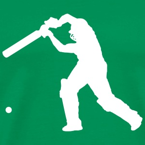 Cricket Player 2 (Vector) - Men's Premium T-Shirt
