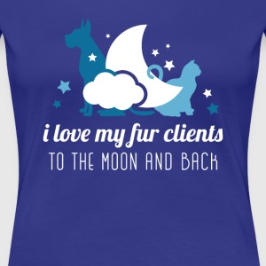I love my fur clients Veterinarian T-shirt Women's T-Shirts - Women's Premium T-Shirt
