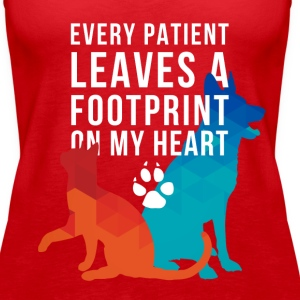 A footprint on my heart Veterinarian T-shirt Tanks - Women's Premium Tank Top