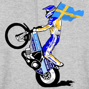 Speedway driver with swedish flag Hoodies - Men's Hoodie