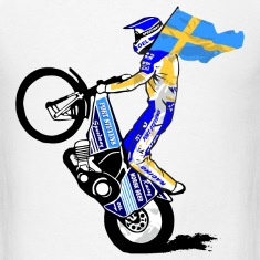 Speedway driver with swedish flag T-Shirts