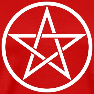 Pentacle Symbol 2 (Vector) - Men's Premium T-Shirt