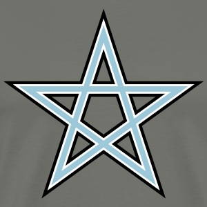 Pentagram Symbol 3 (Vector) - Men's Premium T-Shirt