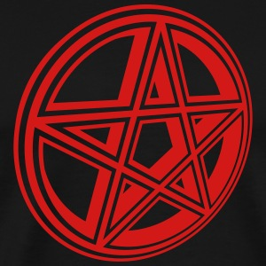Pentacle Symbol 3 (Vector) - Men's Premium T-Shirt