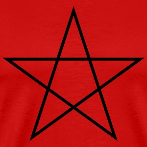Pentagram Symbol (Vector) - Men's Premium T-Shirt