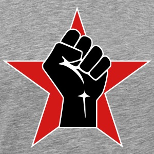 Raised Fist Logo 2 (Vector) - Men's Premium T-Shirt