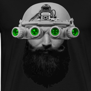 Beard & Night Vision - Men's Premium T-Shirt