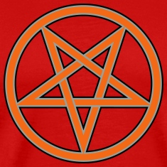 Inverted Pentacle Symbol (Vector)