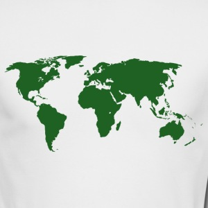 World Map Men's Long Sleeve T-Shirt by American  - Men's Long Sleeve T-Shirt by Next Level