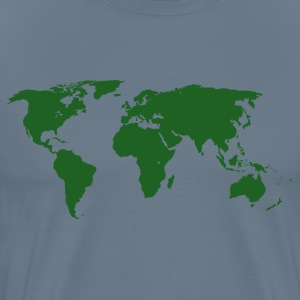 White T-Shirt - World Maps - Men's Premium T-Shirt