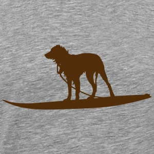 Surfing Dog (Vector) - Men's Premium T-Shirt
