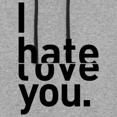 I hate love you couple relationship Hoodies