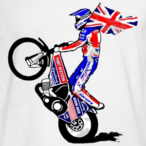 Speedway driver with UK flag Long Sleeve Shirts - Men's Long Sleeve T-Shirt