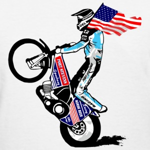 Speedway driver with USA flag Women's T-Shirts - Women's T-Shirt