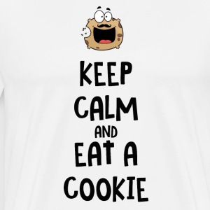 Keep calm and eat a cookie T-Shirts - Men's Premium T-Shirt