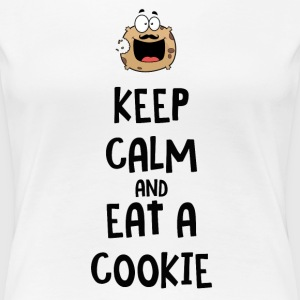 Keep calm and eat a cookie Women's T-Shirts - Women's Premium T-Shirt