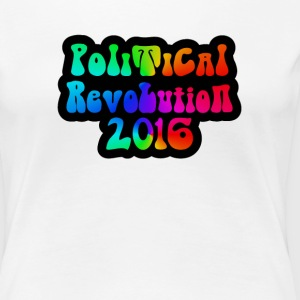 Ladies Political Revolution 2016 Groovy Lettering - Women's Premium T-Shirt