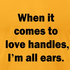 0024 - Ear Handles - Men's T-Shirt by American Apparel