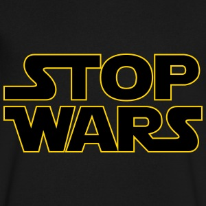 Stop Wars T-Shirts - Men's V-Neck T-Shirt by Canvas