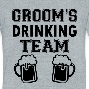 Groom's Drinking Team funny groomsmen - Unisex Tri-Blend T-Shirt by American Apparel
