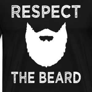 Respect the Beard funny - Men's Premium T-Shirt