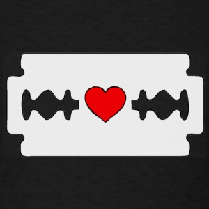 razor blade heart - Men's T-Shirt