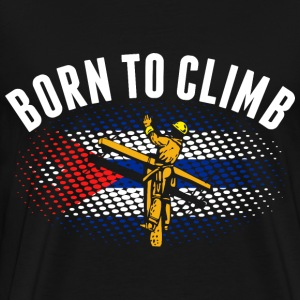 Born To Climb Cuban Lineman - Men's Premium T-Shirt