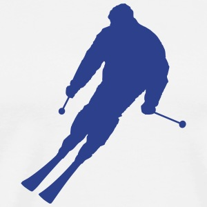 Skier (Vector) - Men's Premium T-Shirt